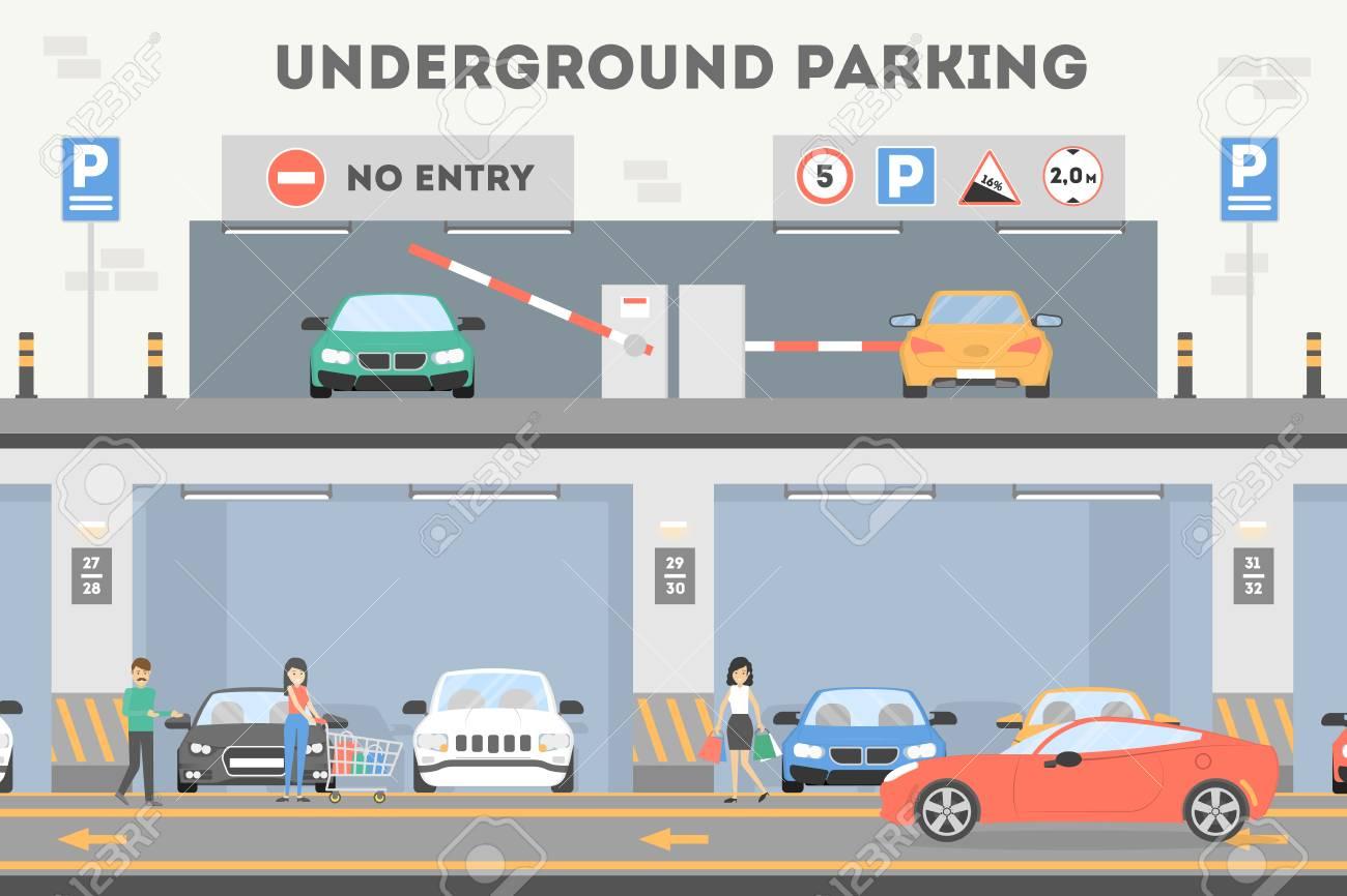 Underground parking lot. - 87705811