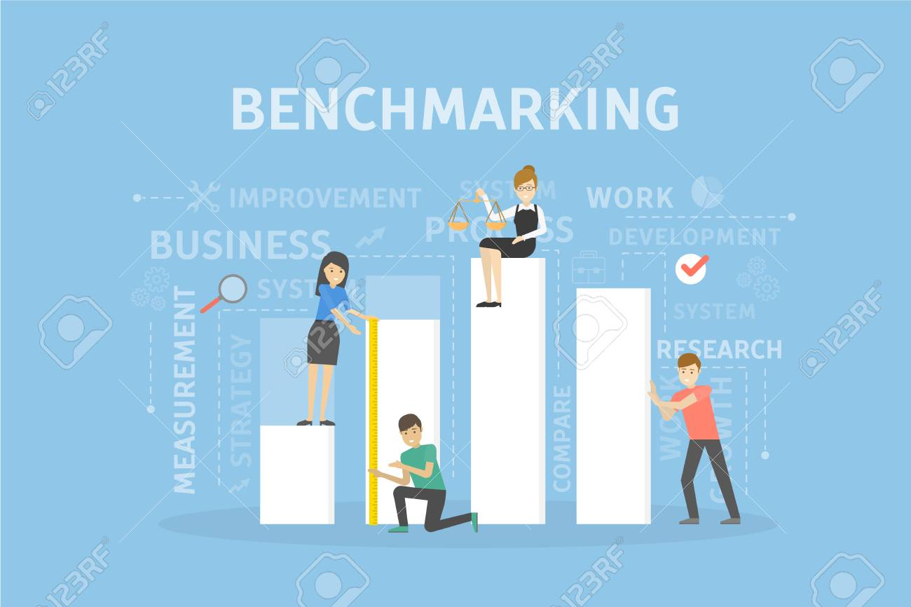 Benchmarking concept illustration. Idea of development, improvement and business. - 88056031