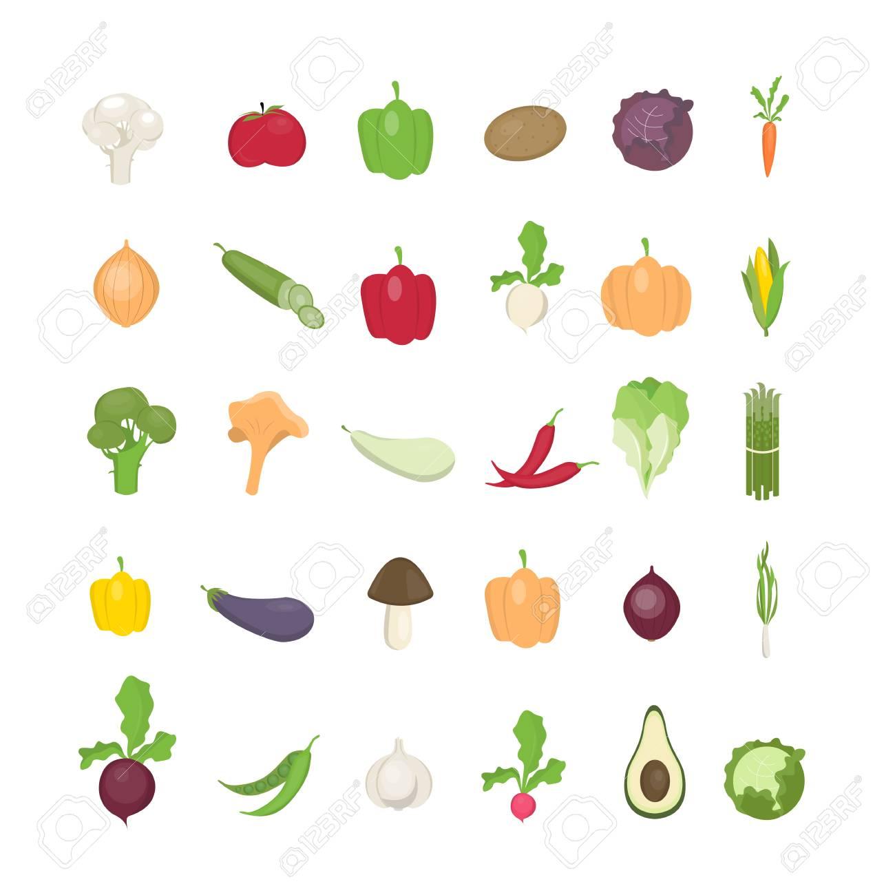 野菜イラスト セットのイラスト素材ベクタ Image 90589827