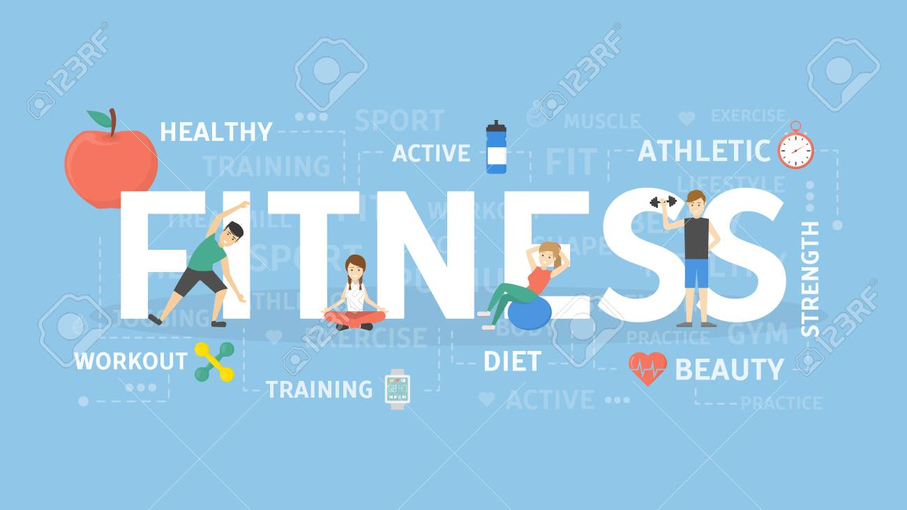 fitness concept illustration. idea of sport, health and wellness