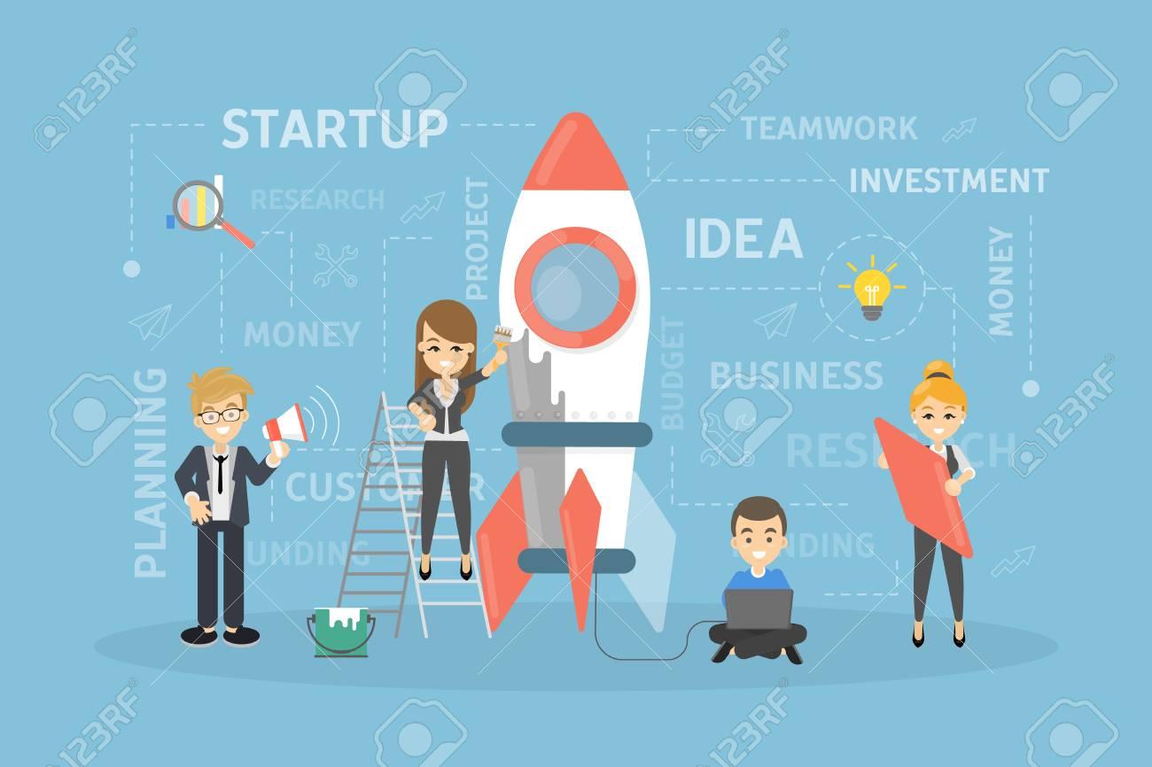 Startup concept illustration. - 95354645