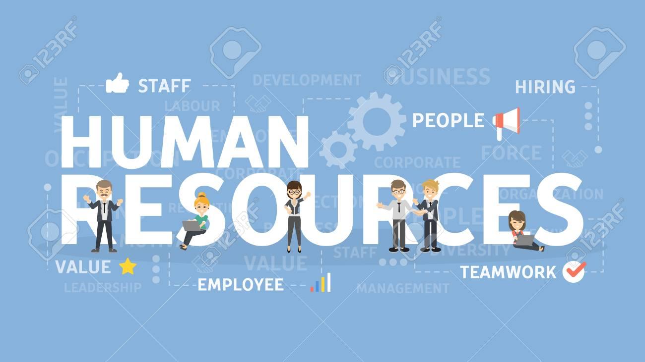 Human resources concept illustration. - 95842003