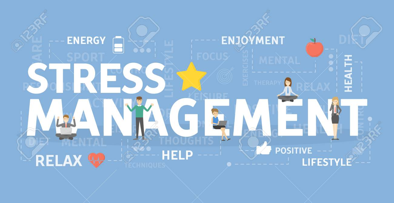 Stress Management Concept Banner Royalty Free Cliparts Vectors And Stock Illustration Image 95964987