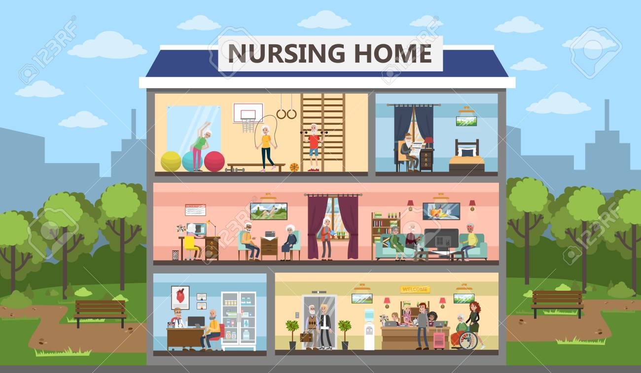 Nursing Home Interior Design Concept. Stock Vector   97277021