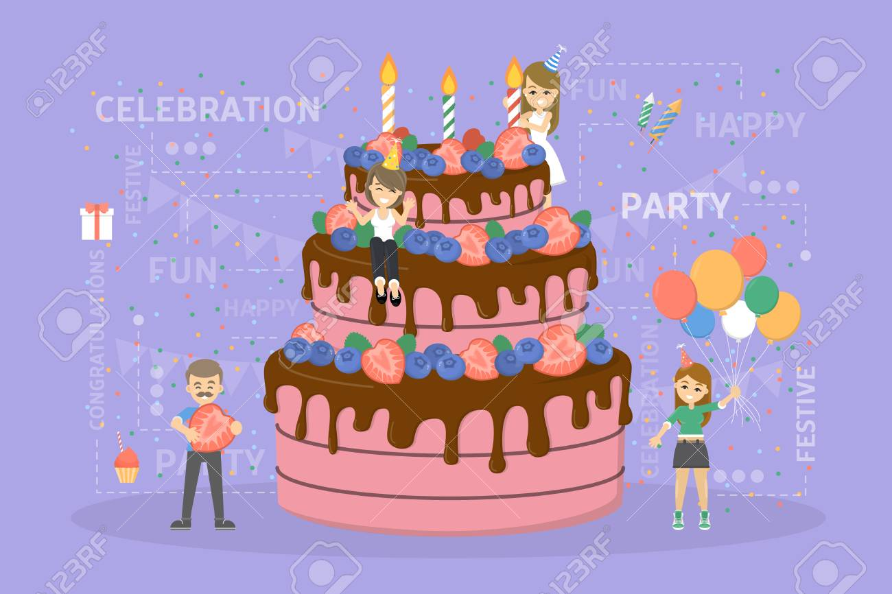 Birthday Cake Images Vektor ~ Happy birthday cake royalty free cliparts vectors and stock