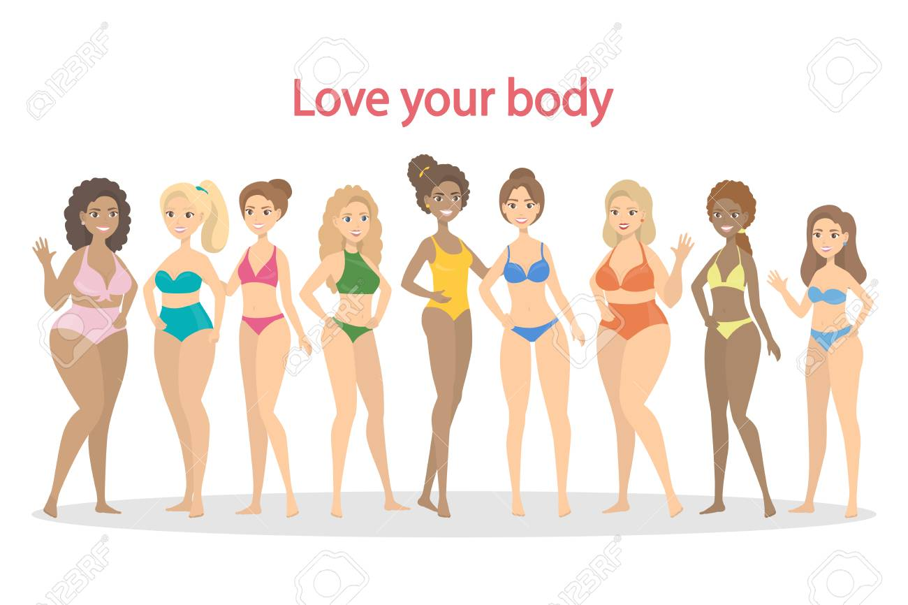 Love Your Body Royalty Free Cliparts Vectors And Stock Illustration Image 99503041