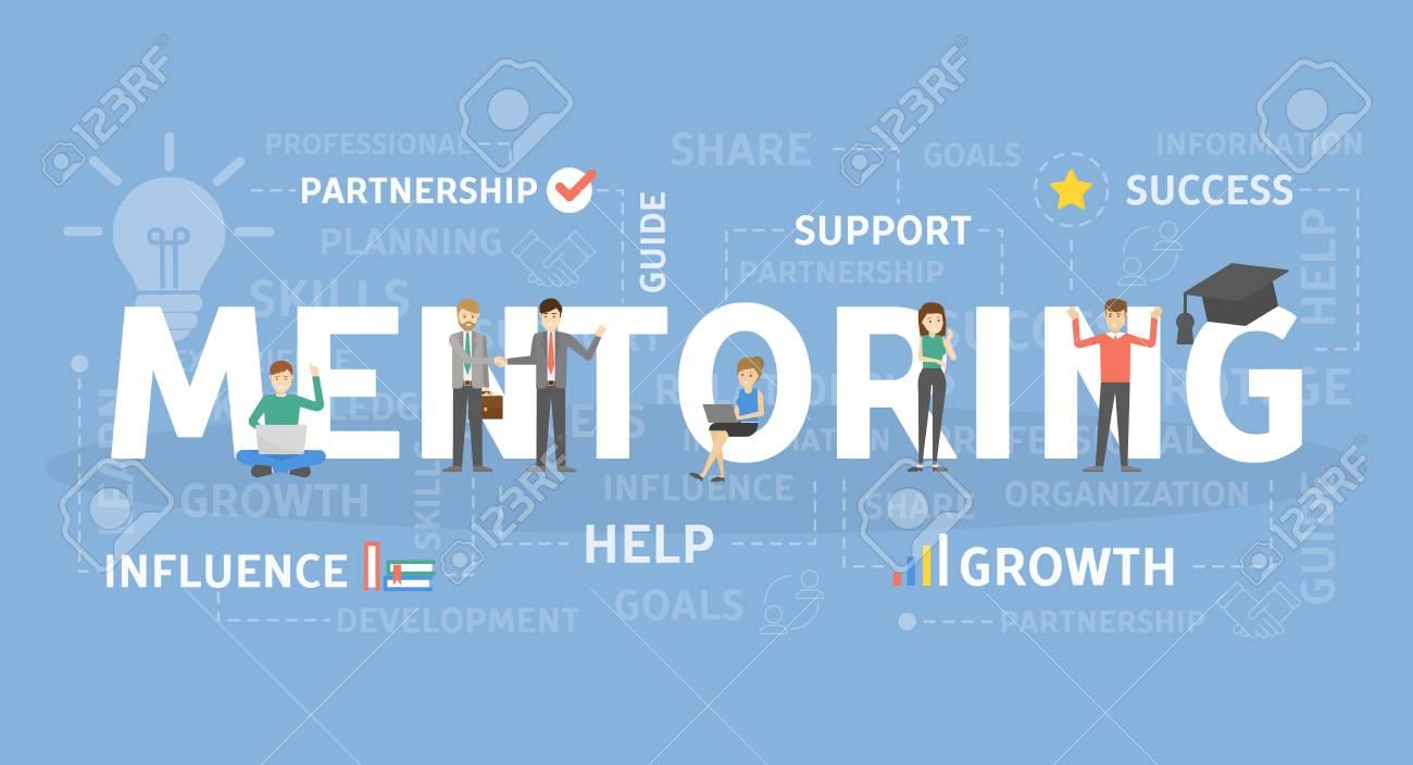 Mentoring concept illustration. - 101979930