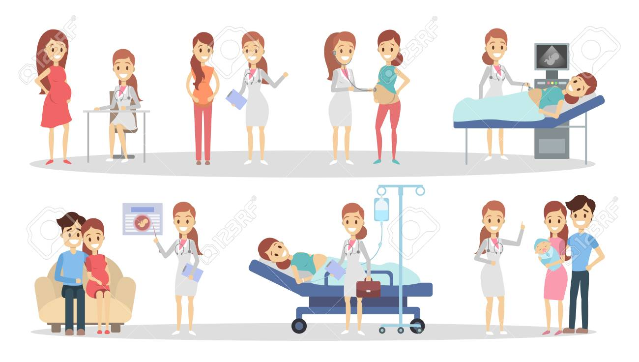 Pregnancy at clinic. - 101979938
