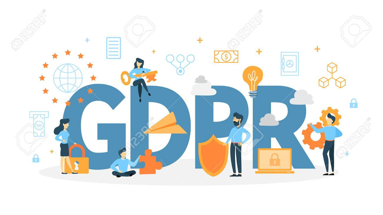 GDPR concept illustration. - 102430828