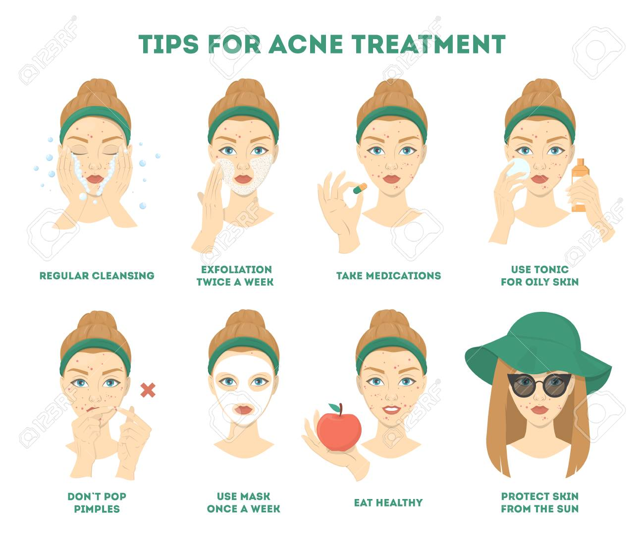 Tips For Acne Treatment How To Get A Clear Face Instruction
