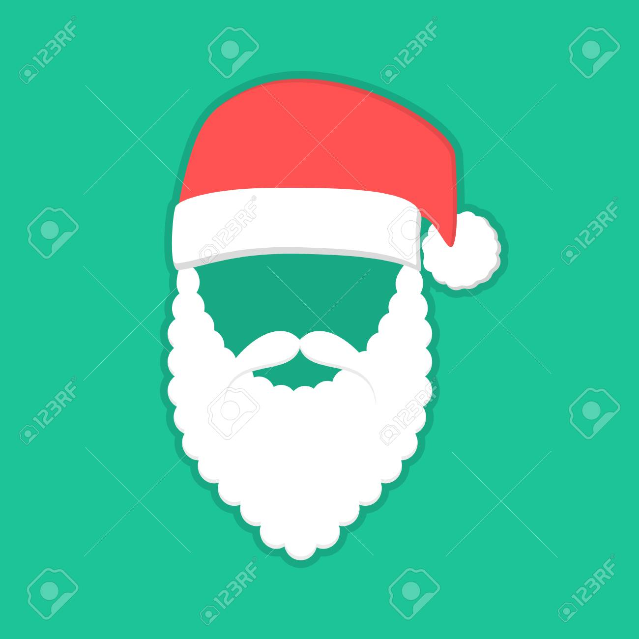 7d926292cad Santa Claus Mask With Red Hat