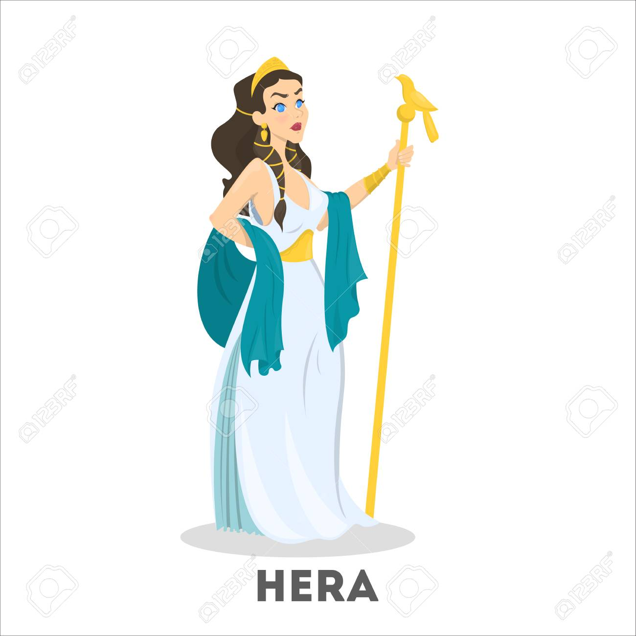Ancient Greek Goddess Hera Mythology God Character