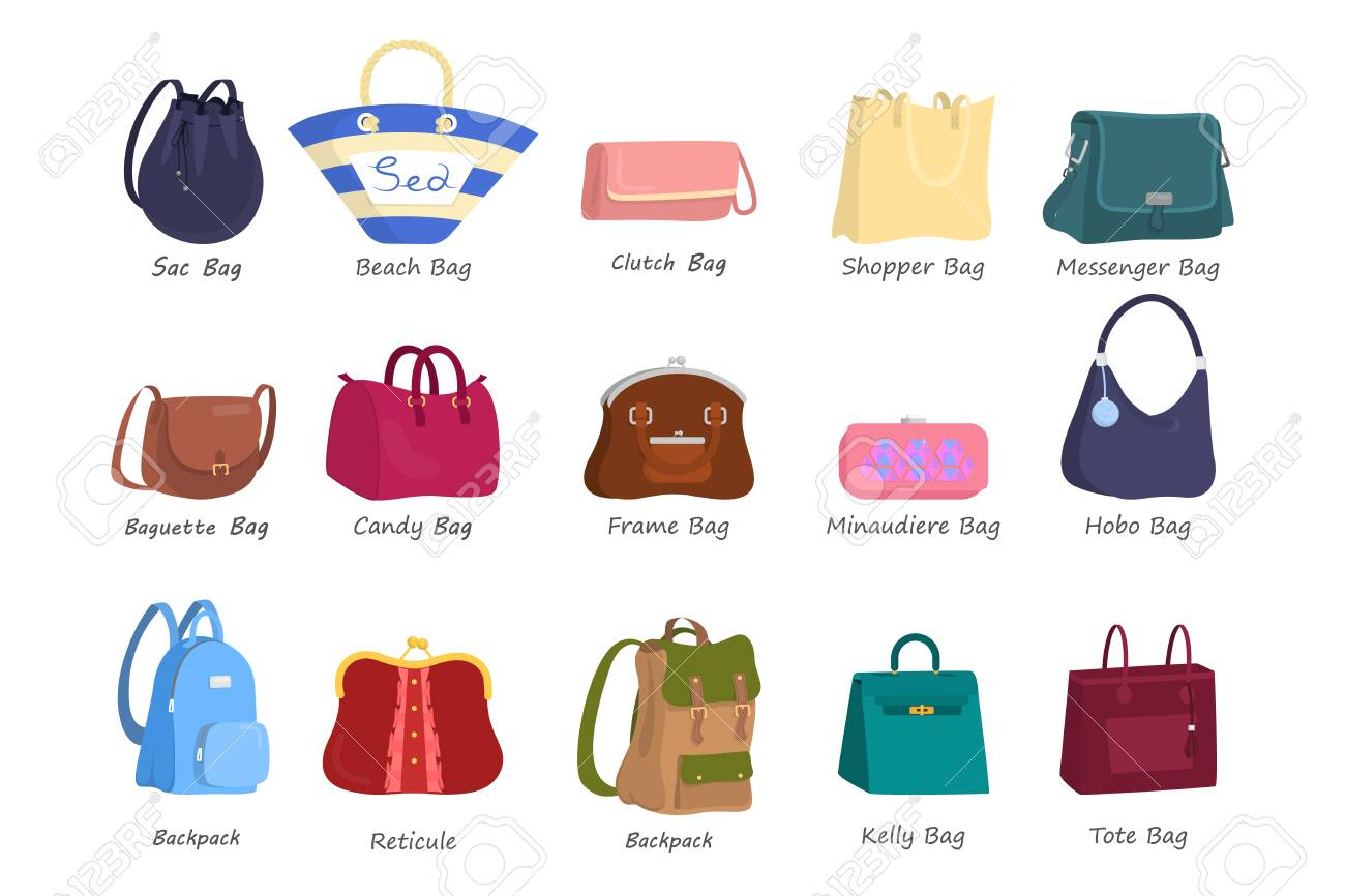 Bag For Women Set Collection Of Handbag Of Different Styles Royalty Free Cliparts Vectors And Stock Illustration Image 127688484