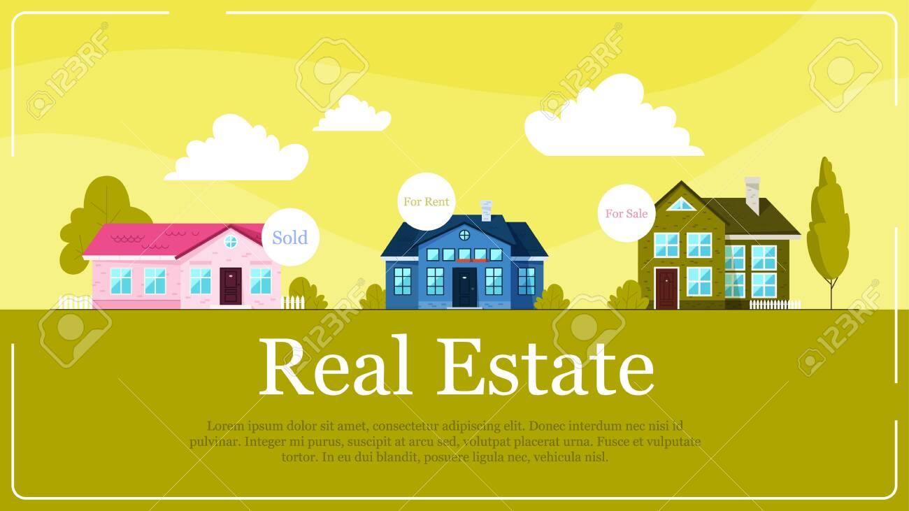 Real Estate Banner Concept Idea Of House For Sale And Rent Royalty Free Cliparts Vectors And Stock Illustration Image 131569874