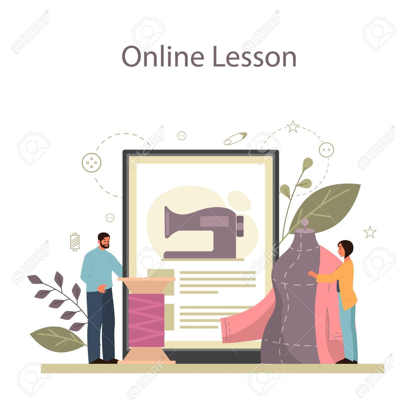 Fashion Designer Or Tailor Online Service Or Platform Professional Royalty Free Cliparts Vectors And Stock Illustration Image 147808782