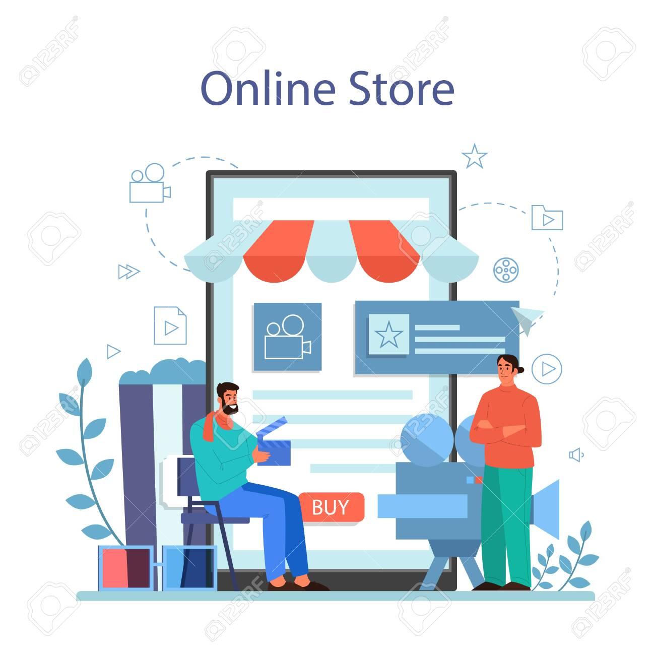 Film directing online service or platform. Idea of creative people - 148221528