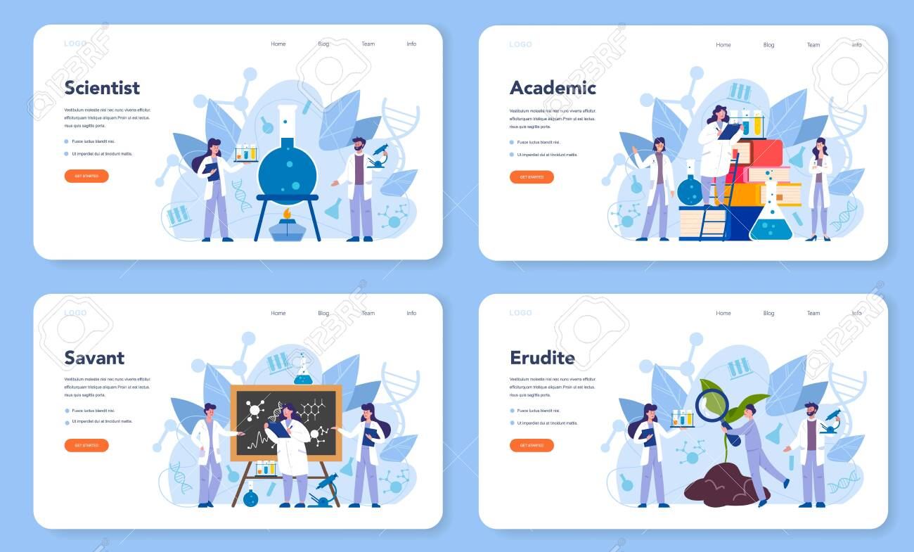 Scientist concept web banner or landing page. Idea of education - 148740811