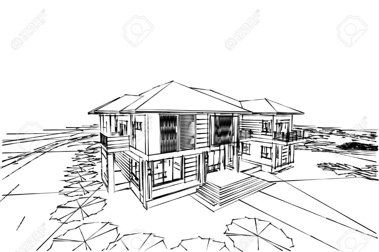 abstraite d dessin maison asiatique banque duimages with dessin 3d maison