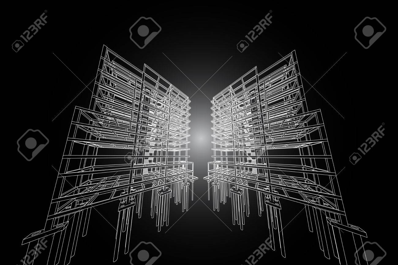 architecture drawing.  Architecture Architecture AbstractArchitecture Drawinghighrise Building Structure  Stock Photo  60143069 On Drawing
