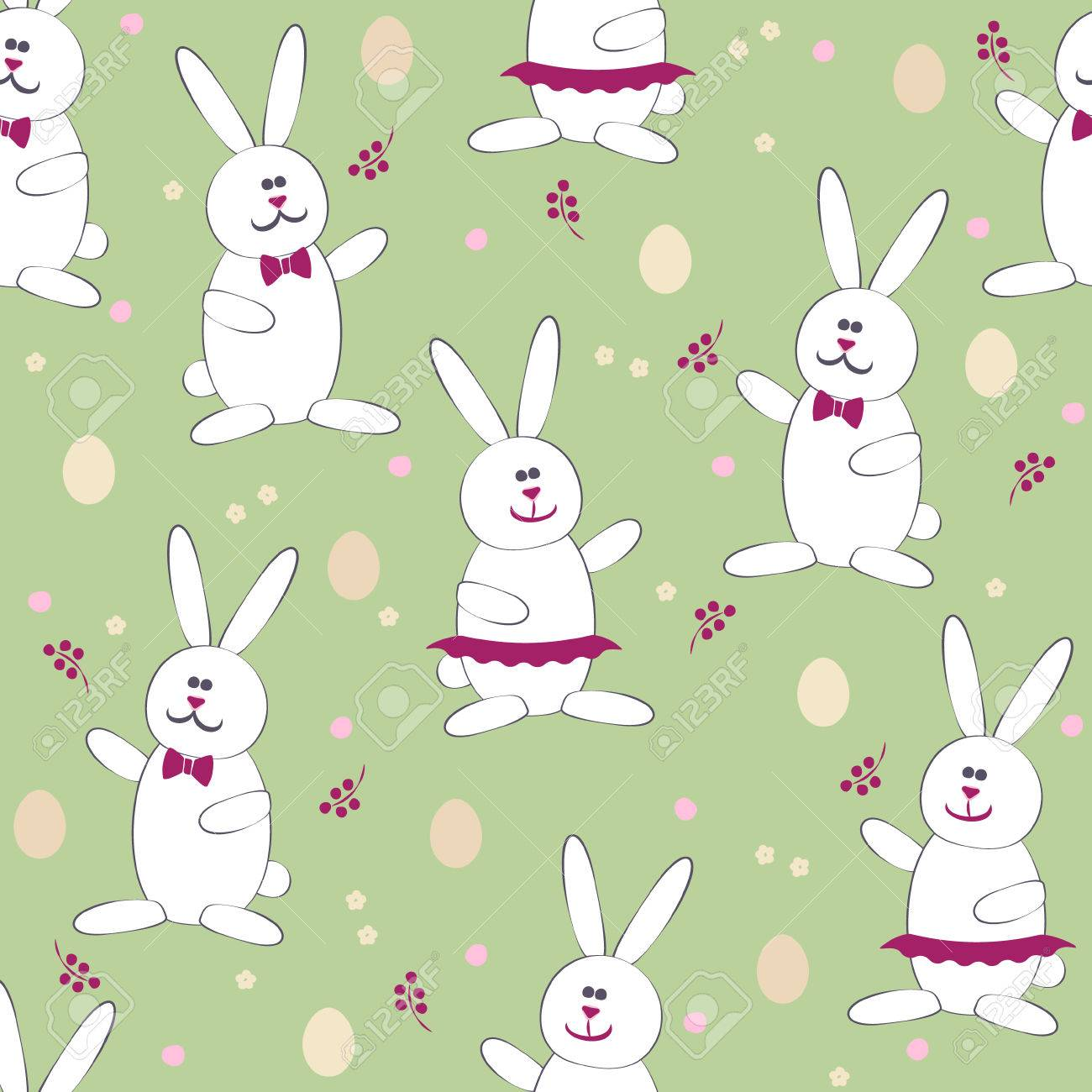 Cute easter bunny egg hunt game seamless pattern vector background cute easter bunny egg hunt game seamless pattern vector background use for textiles negle Gallery