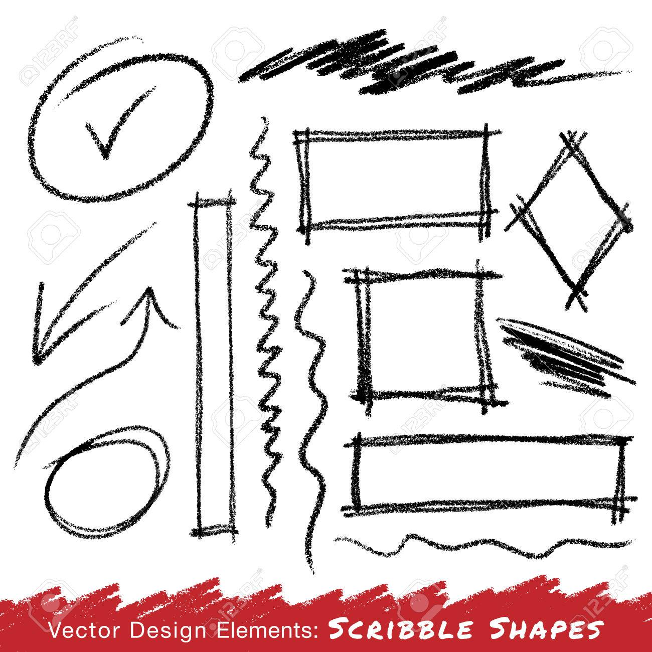 Scribble Stains Hand drawn in pencil - 31995718