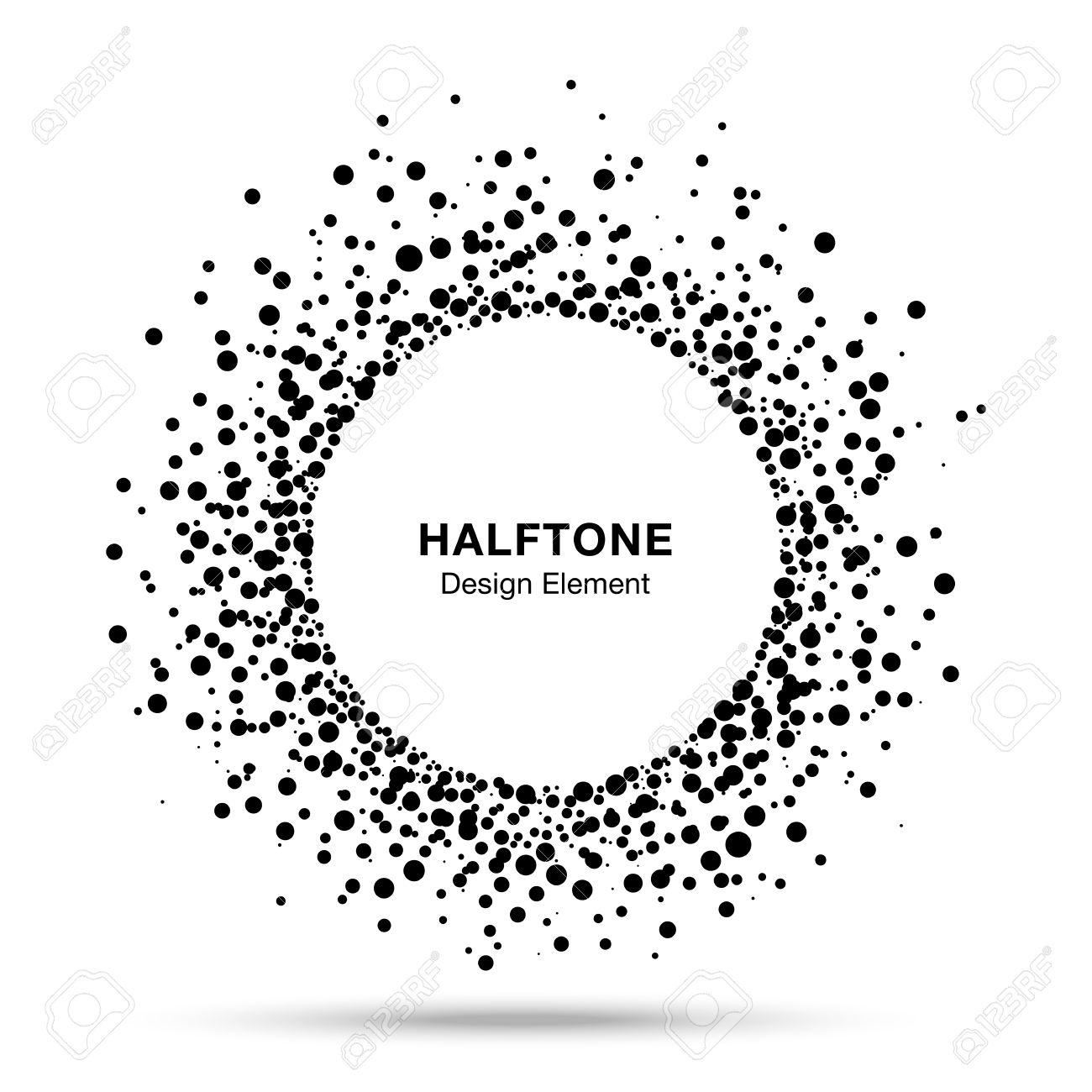 Black Abstract Halftone Logo Design Element - 33431018