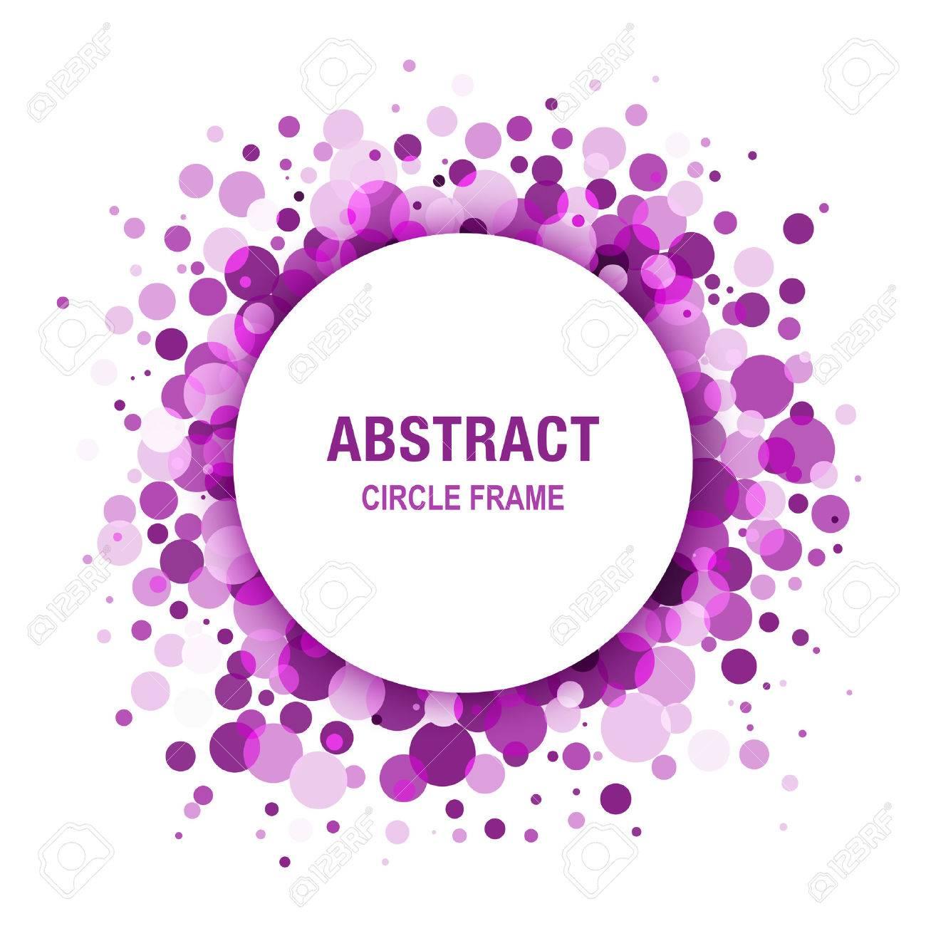 Purple - Marco Violeta Abstracto Del Círculo Diseño Elemento ...