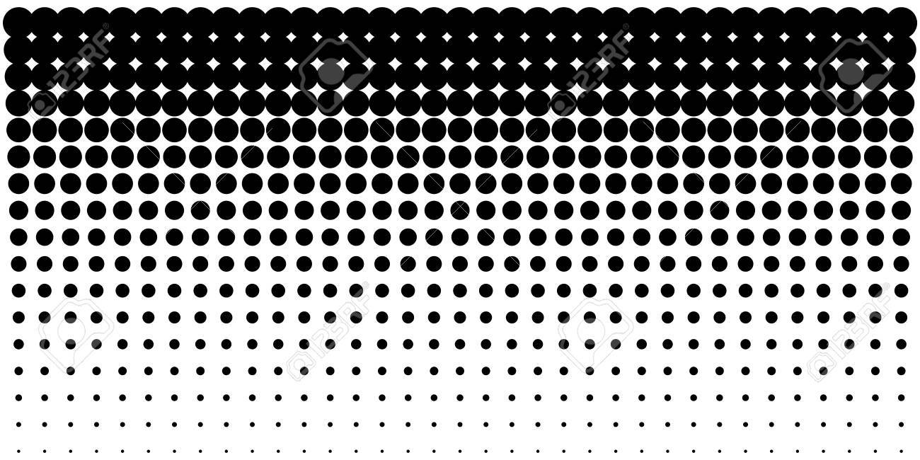 Vertical gradient halftone dots background, horizontal template