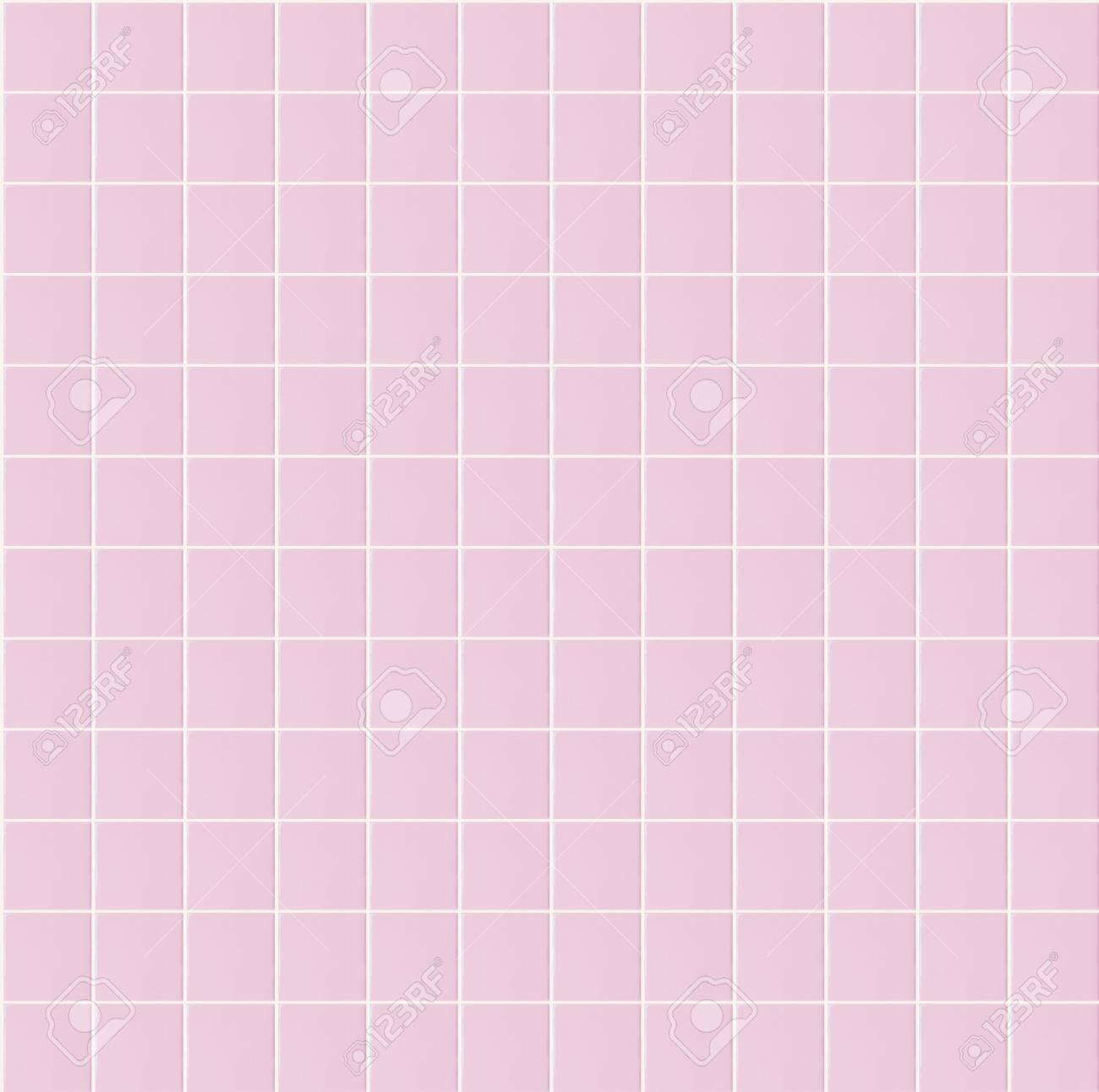Pink Bathroom Tiles Texture