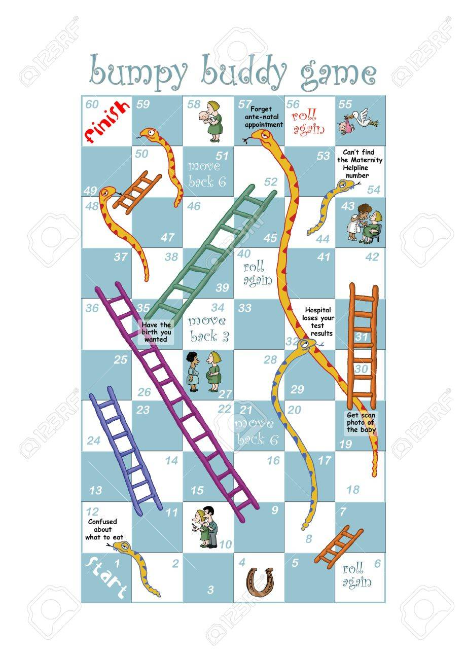 A Snakes And Ladders Game Design For Pregnant Women And Nurses Stock Photo Picture And Royalty Free Image Image 18691072