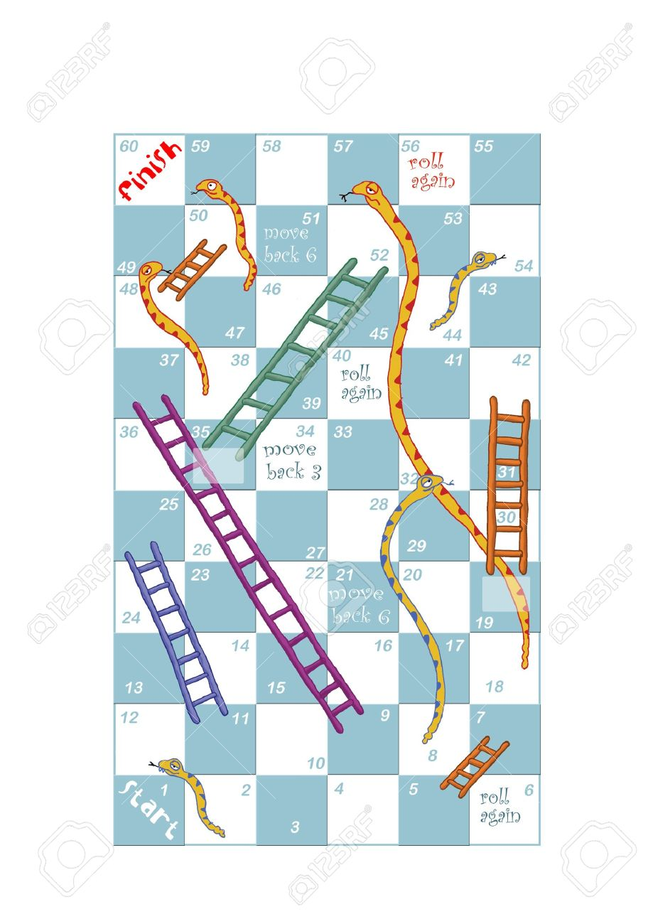 A Customisable Print And Play Snakes And Ladders Game Design Stock Photo Picture And Royalty Free Image Image 18690986