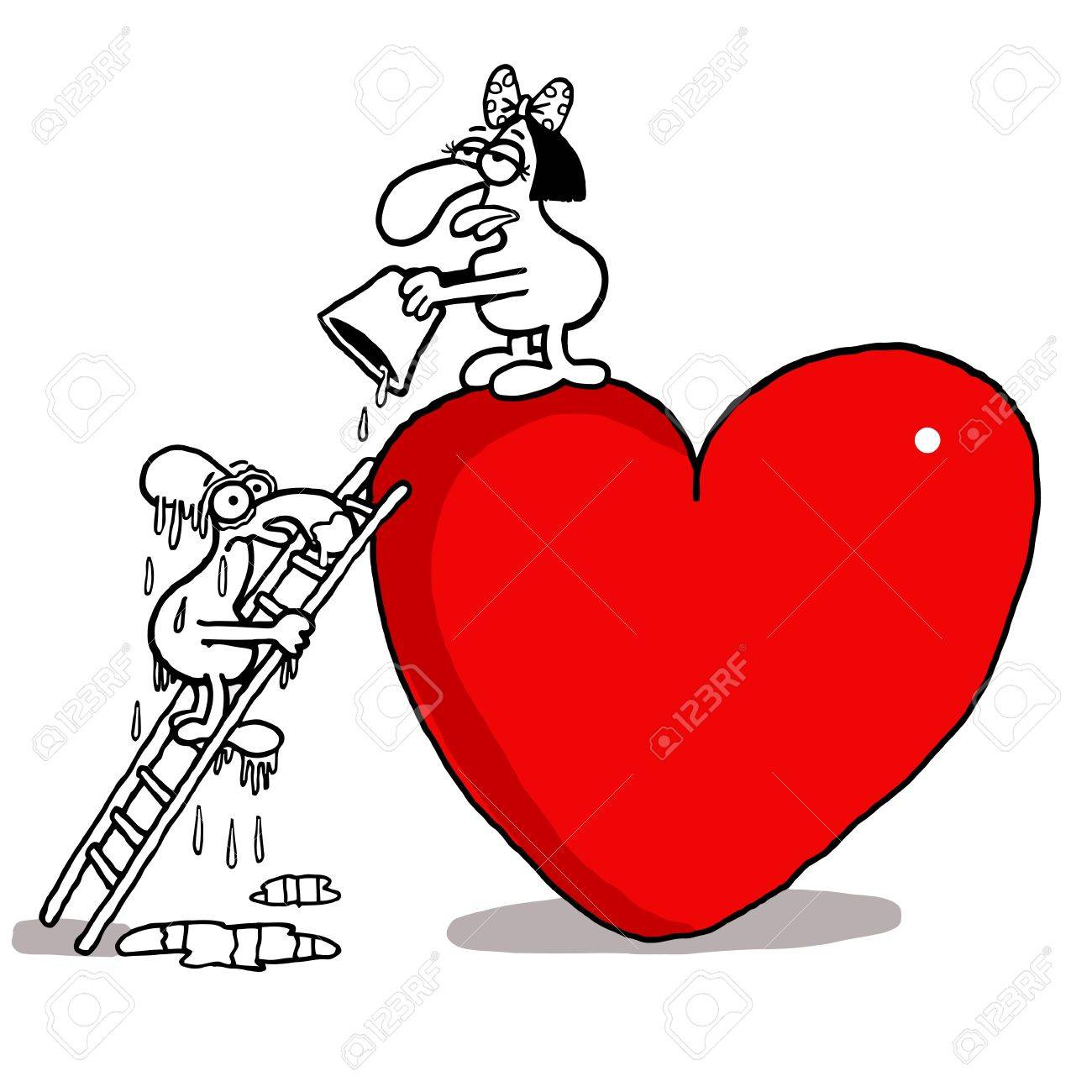 Vectorel humorous cartoon about Valentines day and Love Stock Vector - 21218587
