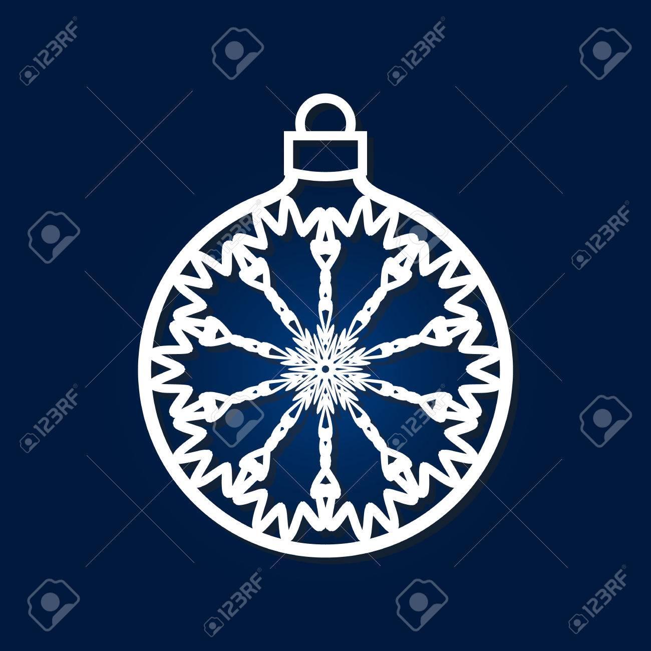 Boule De Noël Avec Flocon De Neige à L'intérieur. Gabarit De