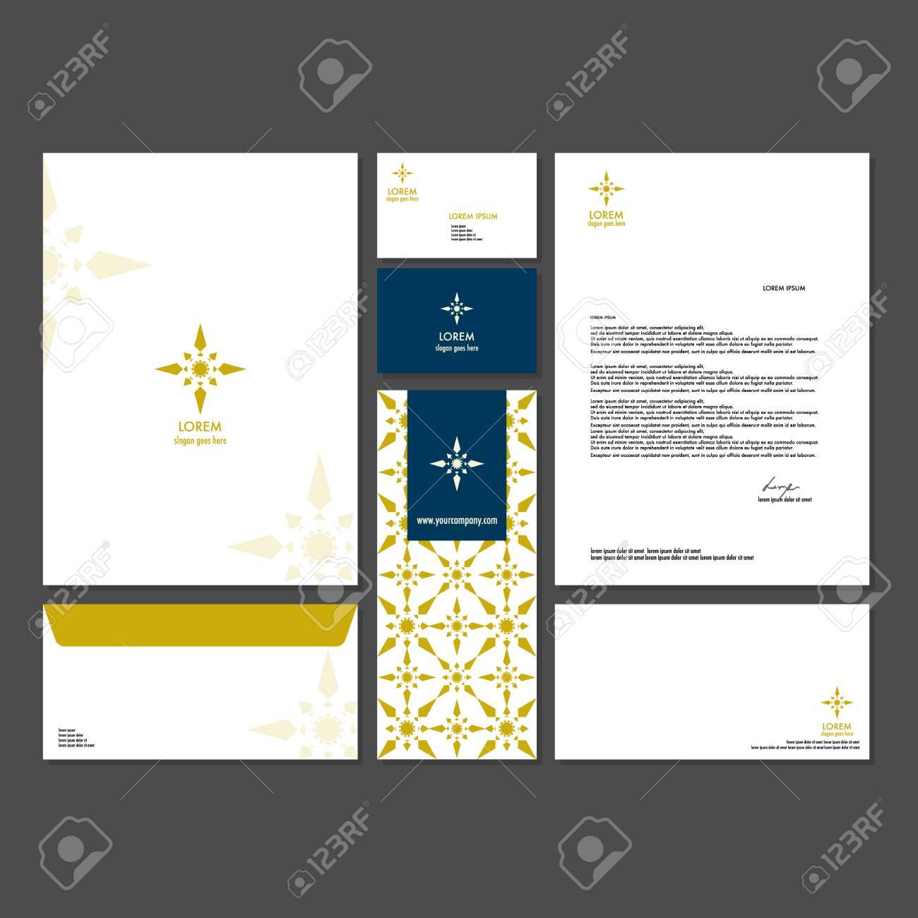 Design Corporate Ideny   Template Design Corporate Identity Branding Unternehmen Set
