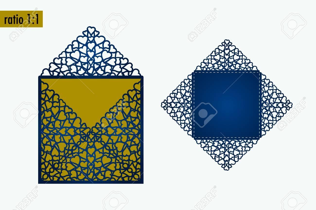 Template - Envelope For Laser Cut. DIY Laser Cutting Envelope ...