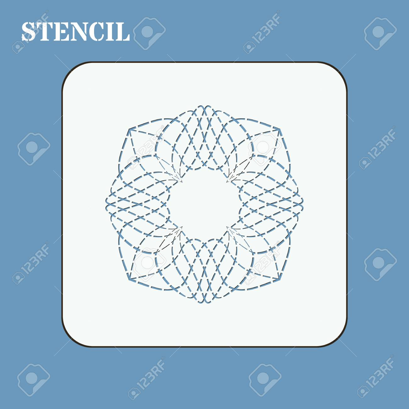 stencil template for quilting it can be used for laser cutting or punching stencil
