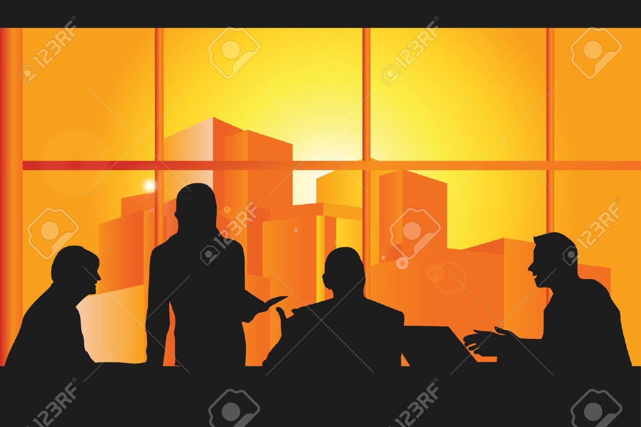 illustration of a group business people in a meeting Stock Vector - 8420287