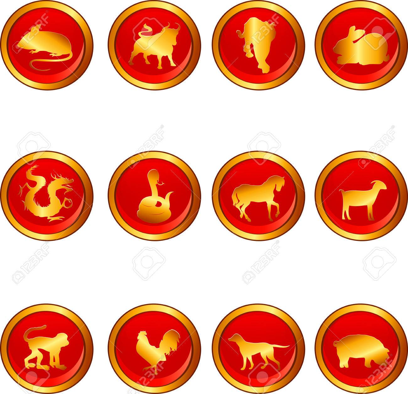Illustration Of Chinese Astrology Signs Royalty Free Cliparts ...