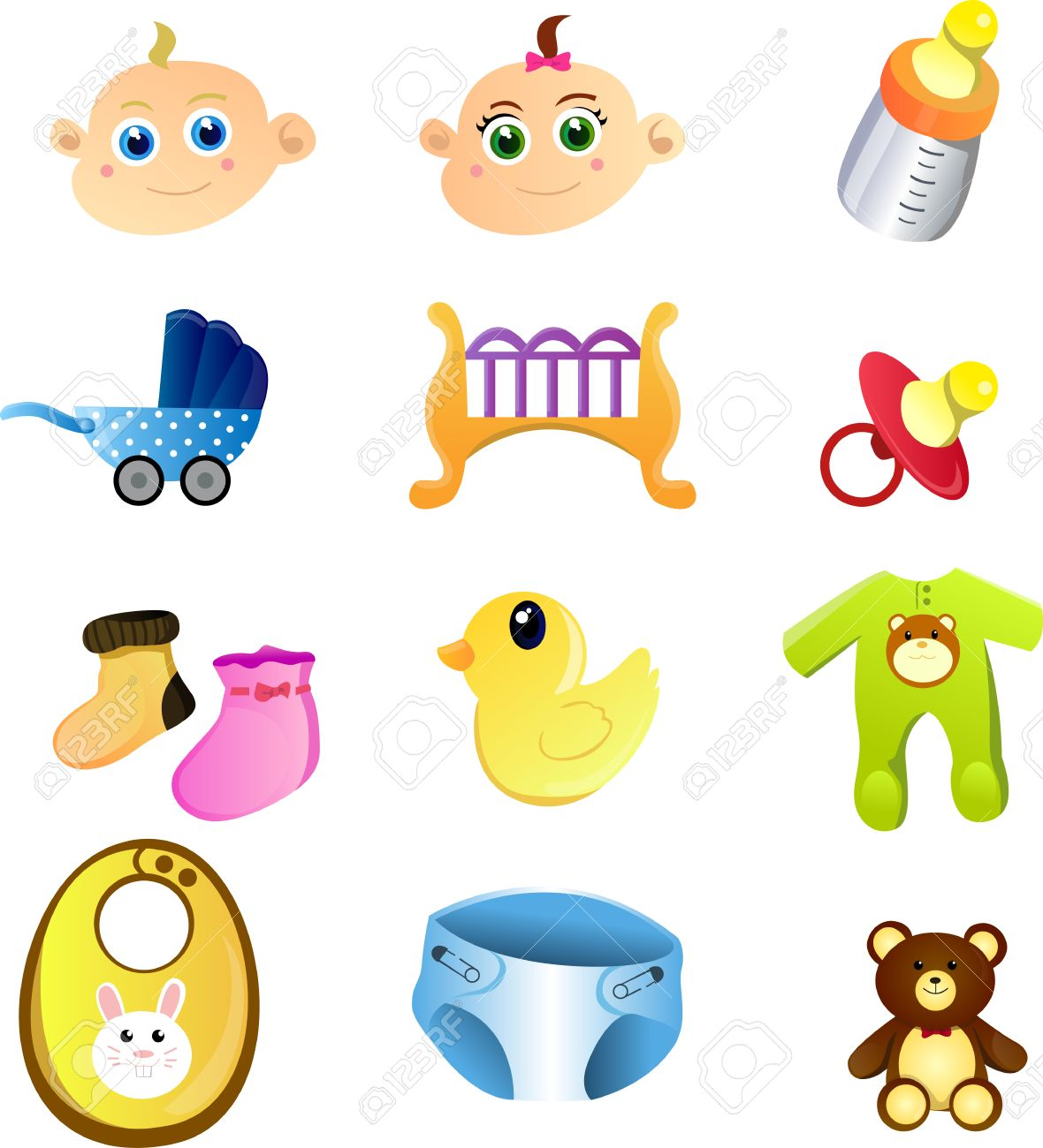 A set of baby items Stock Vector - 9040744