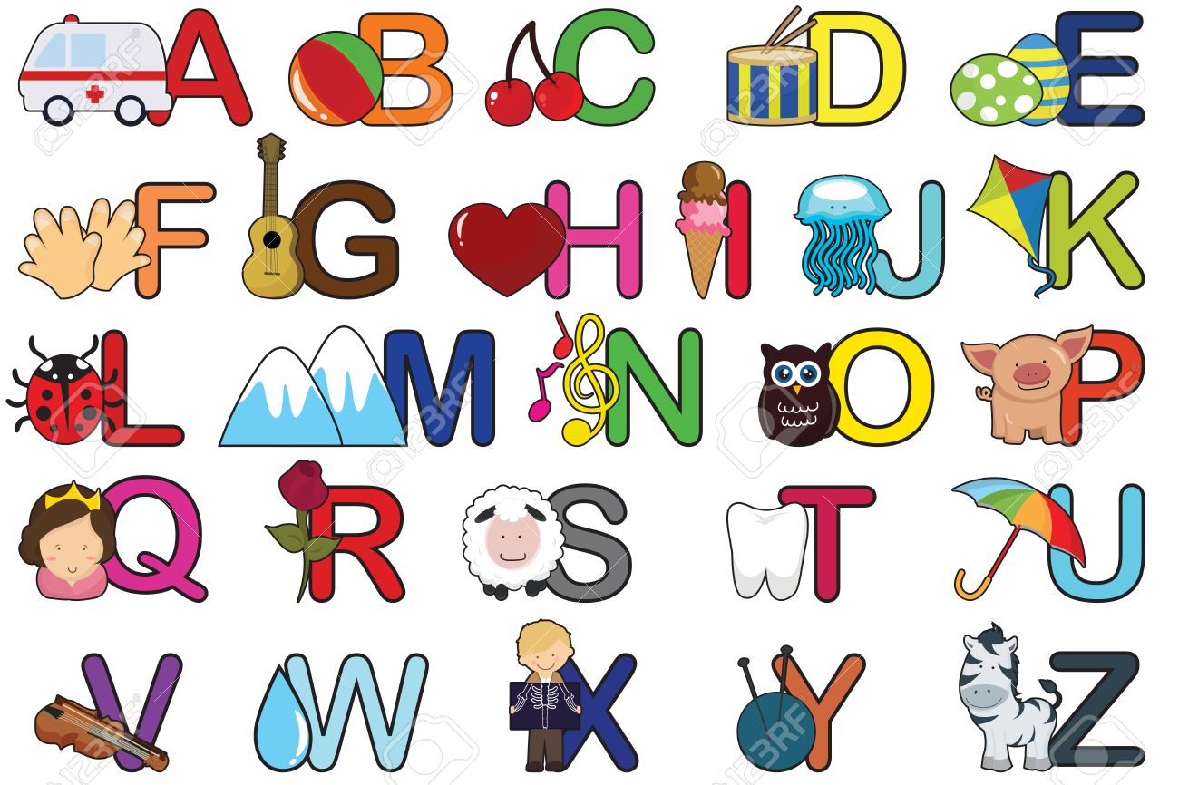 A Set Of Alphabet Letters Royalty Free Cliparts, Vectors, And Stock ...