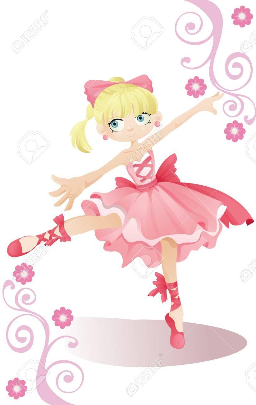 illustration of a ballerina girl Stock Vector - 9295629