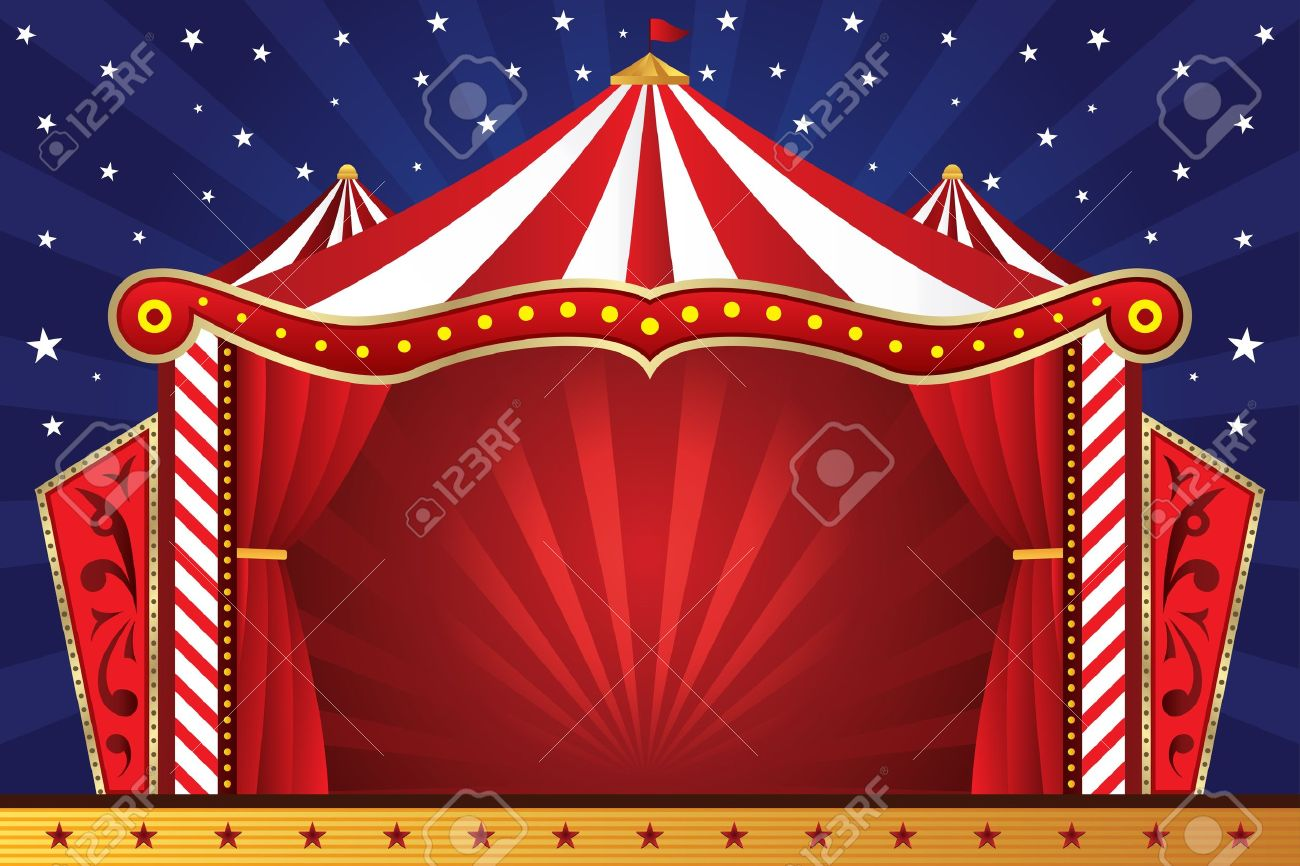 illustration of a circus background Stock Vector - 9576374