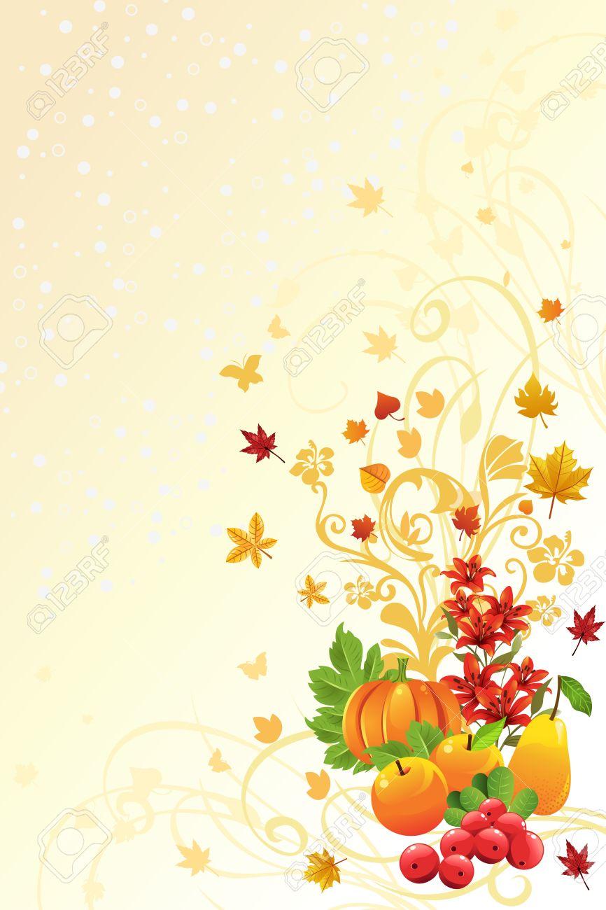 秋や秋のシーズン背景のイラスト ロイヤリティフリークリップアート