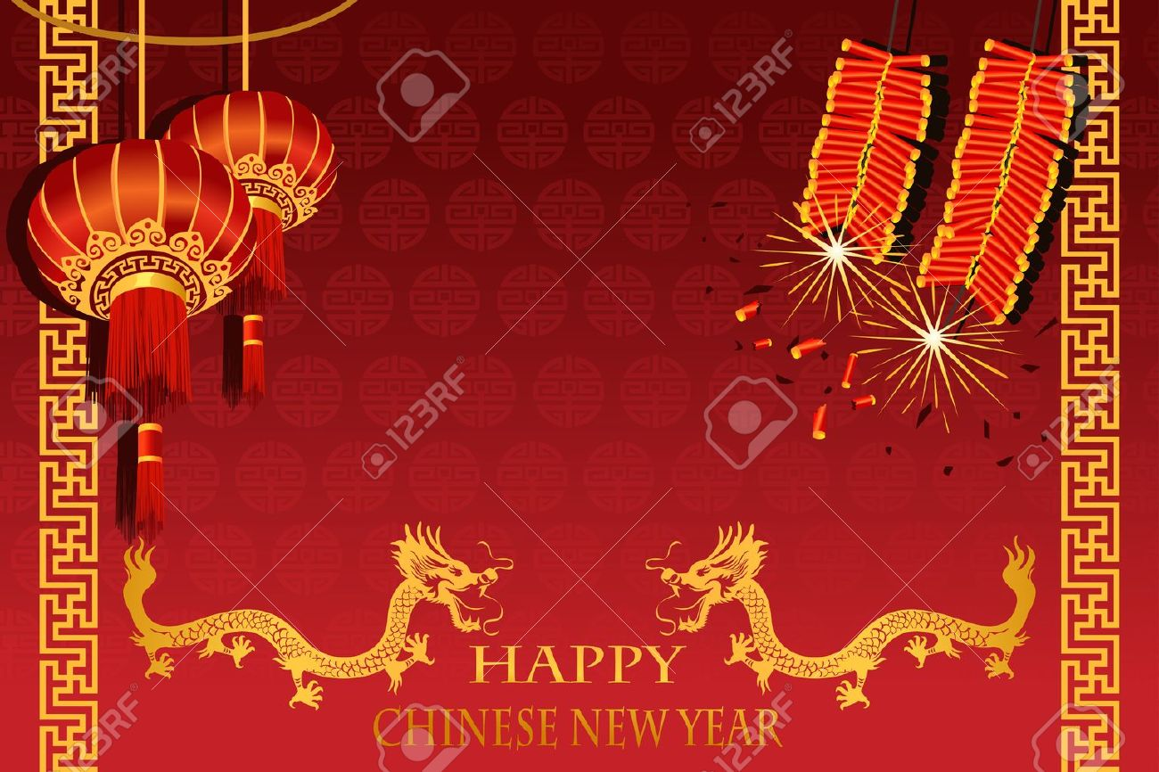 illustration of Chinese New Year (the year of Dragon) greeting card Stock Vector - 10856723
