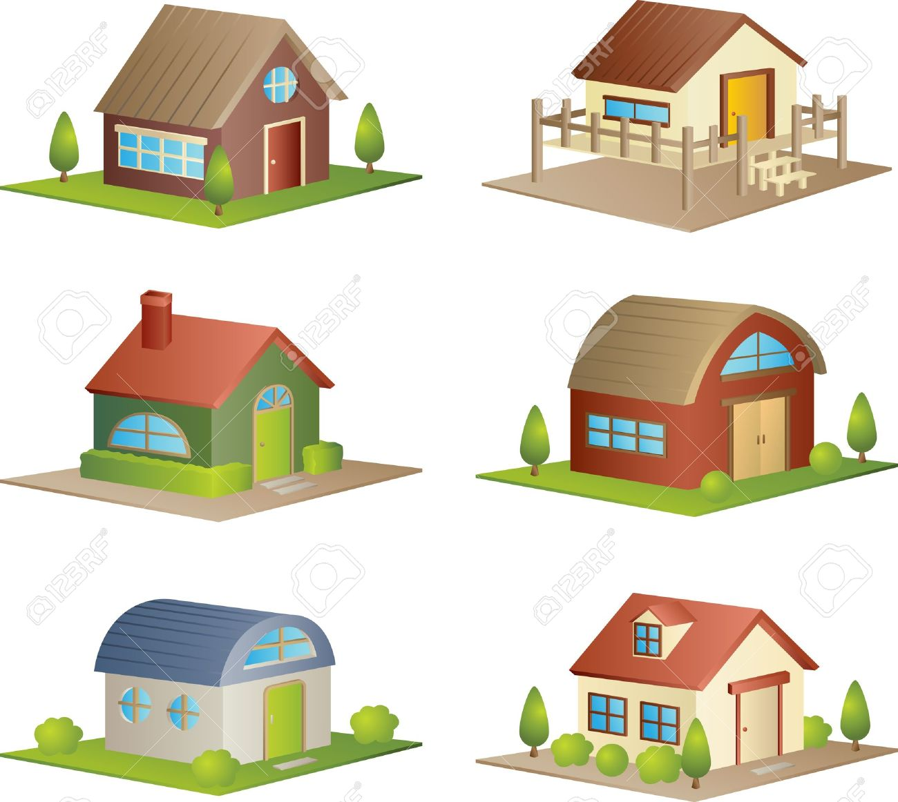 Enjoyable A Illustration Of A Collection Of Different Houses Royalty Free Largest Home Design Picture Inspirations Pitcheantrous