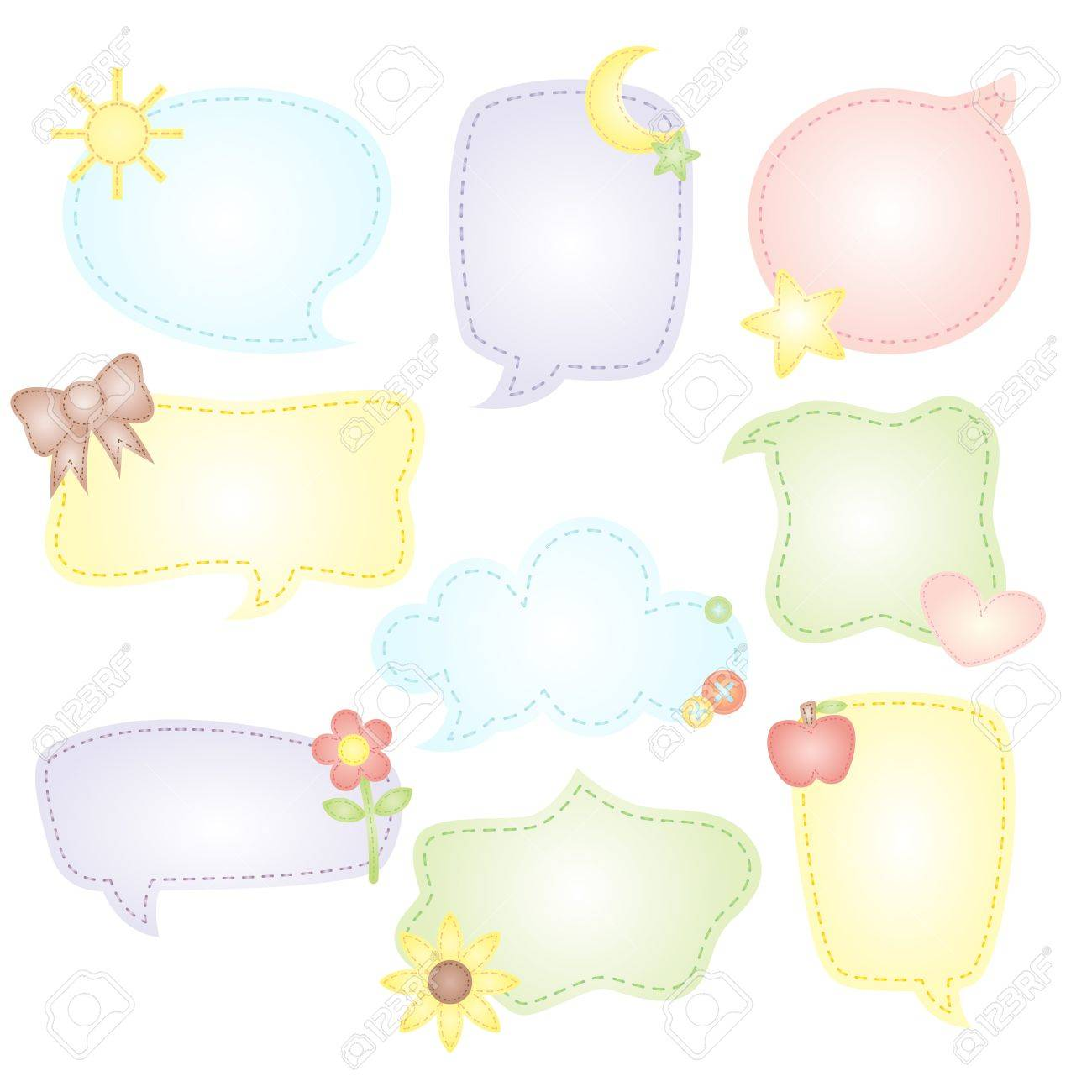 A illustration of speech bubbles drawings Stock Vector - 12145077