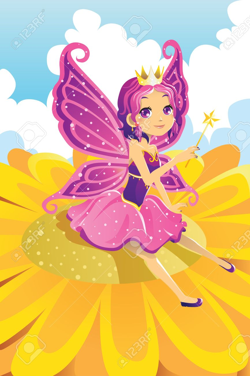 A vector illustration of a fairy princess Stock Vector - 14299921
