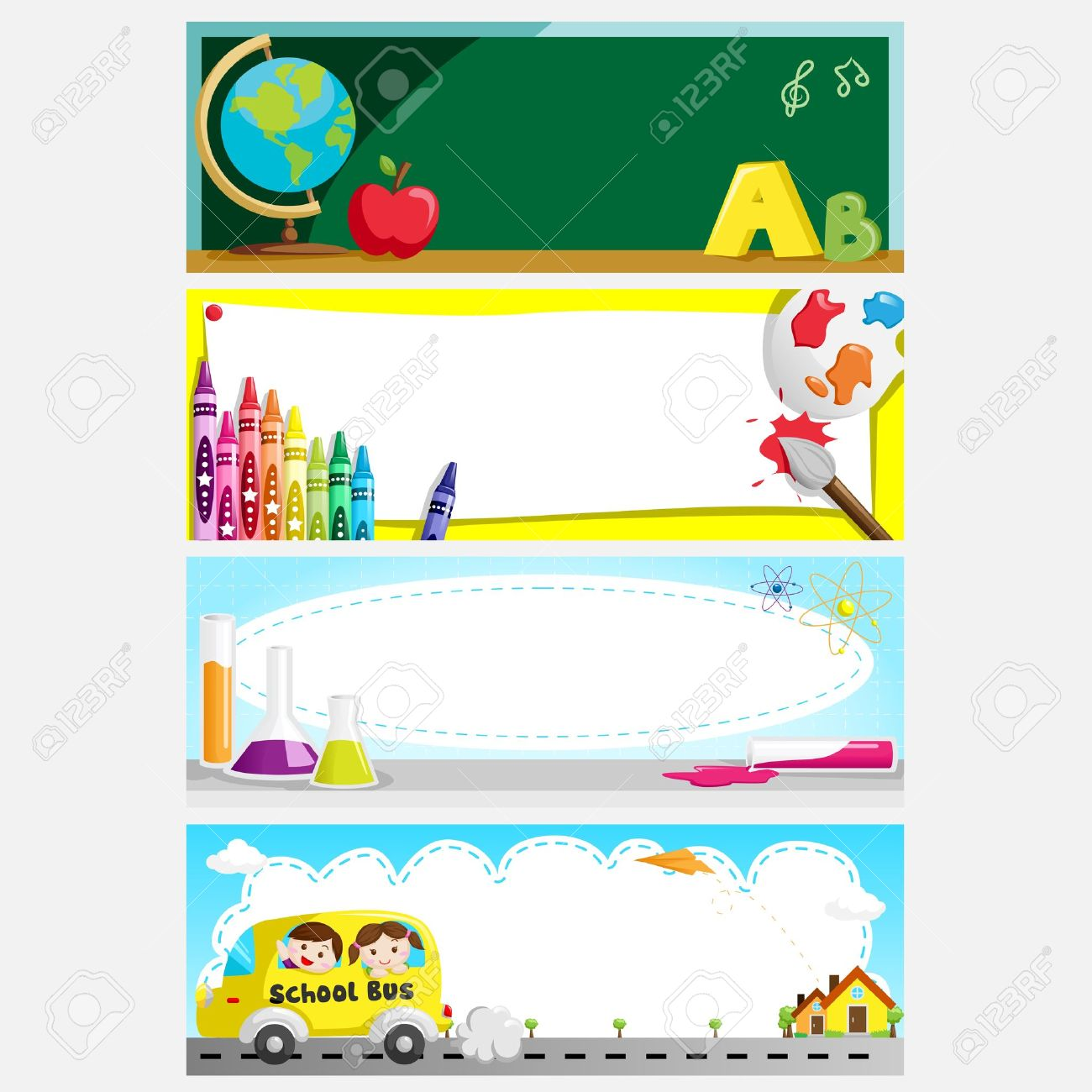 A illustration of a set of education or back to school banners Stock Vector - 14413791
