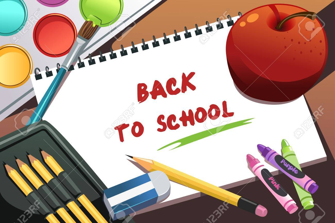 Illustration of back to school background Stock Vector - 14676149