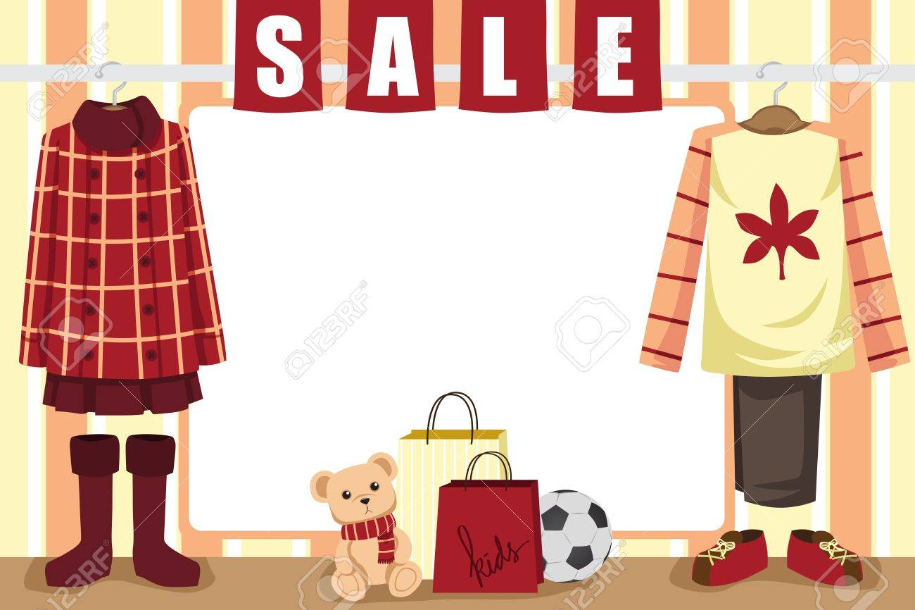 A  illustration of store window display for autumn shopping Stock Vector - 15522224